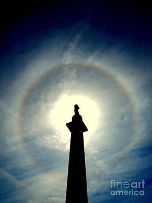 Photograph - The Halo Of The Spring Equinox Of The Statue Of General Robert E. Lee In New Orleans Louisiana by Michael Hoard