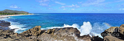 Halona Blowhole Photograph - The Halona Blowhole Sandy Beach And Makapuu Point by Aloha Art