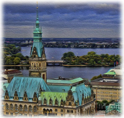 Photograph - The Hamburg Rathaus by Lee Dos Santos