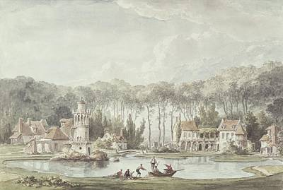 The Hameau, Petit Trianon, 1786 Wc Art Print by Claude Louis Chatelet