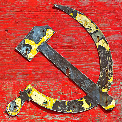 The Hammer And Sickle Print by Martin Bergsma