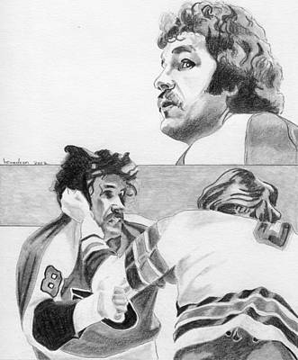 Philadelphia Flyers Drawing - The Hammer by Brian Condron