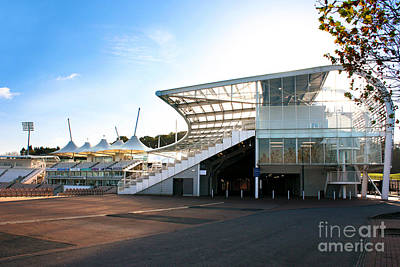 Cricket Photograph - The Hampshire County Cricket Club Pavilion by Terri Waters