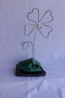 4 Leaf Clover Sculpture - The Hand Of Luck by Vincent Felice