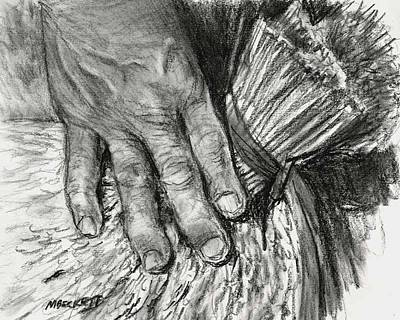 Rice Paddy Painting - The Hand That Feeds Us by Michael Beckett