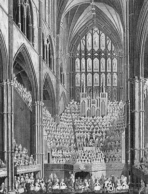 Westminster Abbey Drawing - The Handel Commemoration In Westminster by Mary Evans Picture Library