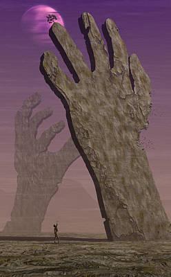 Digital Art - The Hands by Matt Lindley