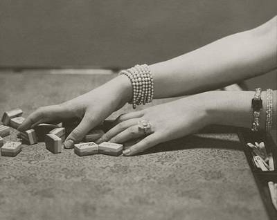 Board Game Photograph - The Hands Of Ilka Chase by Edward Steichen