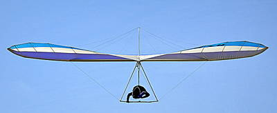 Photograph - The Hang Glider by AJ  Schibig