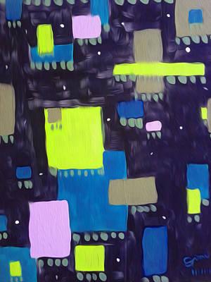 Wall Art - Painting - The Hanging Gardens V2 by Jimi Bush