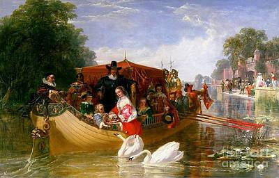 Charles River Painting - The Happier Days Of Charles I by Pg Reproductions