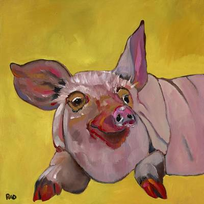 The Happiest Pig In The World Art Print