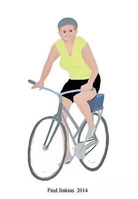 Two Wheeler Digital Art - The Happy Biker by Fred Jinkins