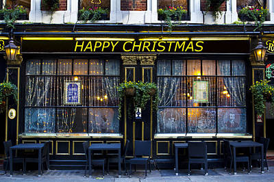 Photograph - The Happy Christmas Pub by David Pyatt