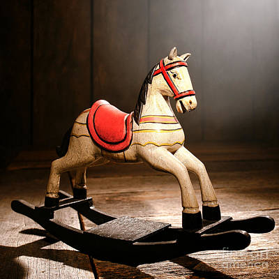 Photograph - The Happy Little Rocking Horse In The Attic by Olivier Le Queinec