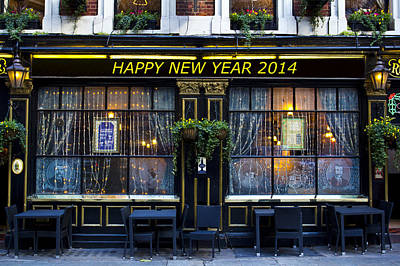 Photograph - The Happy New Year 2014 Pub by David Pyatt
