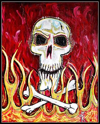 The Happy Skull Art Print by Kip Krause