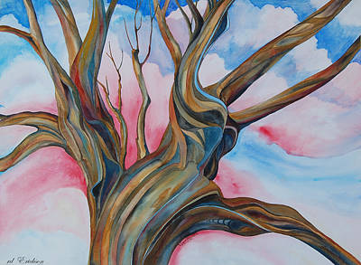 the Happy Tree - Fourth of July Original by rd Erickson