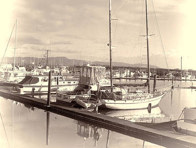 Photograph - The Harbor At Ilwaco by HW Kateley