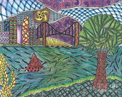 Drawing - The Harbor by Dianne Ferrer