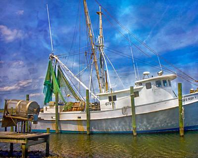 Crabbing Photograph - The Harbor II by Betsy Knapp