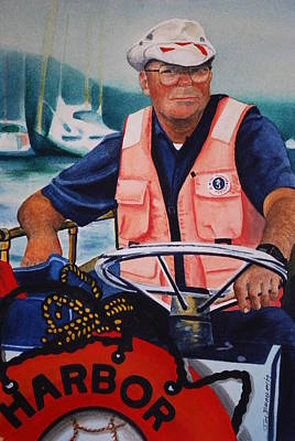Painting - The Harbor Master by Joy Bradley