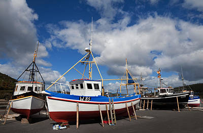 The Harbour And Fishing Boats, Passage Art Print by Panoramic Images