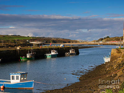 Riviere Photograph - The Harbour At Hayle Cornwall by Louise Heusinkveld