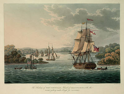 The Harbour Of Port Cornwallis Art Print by British Library