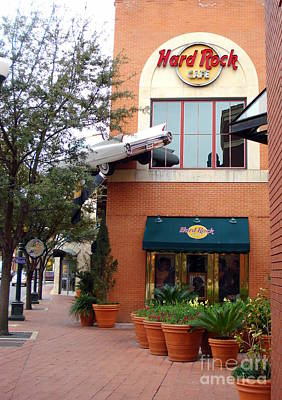 Photograph - The Hard Rock Cafe by Rachel Munoz Striggow