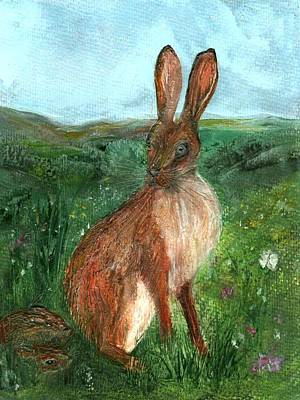Painting - The Hare by Carol Rowland