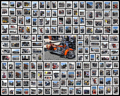 Two Wheeler Photograph - The Harley-davidson 110th Anniversary Celebration In Rome by Stefano Senise