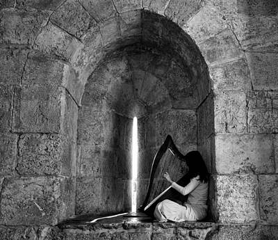 Photograph - The Harp Player by Uri Baruch