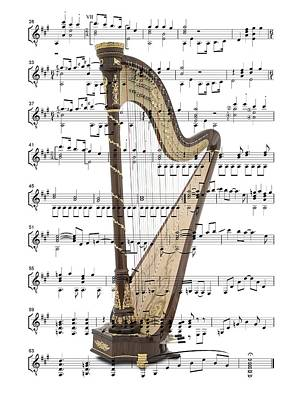 Digital Art - The Harp by Ron Davidson