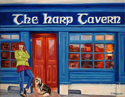 Painting - The Harp Tavern by Janet McDonald
