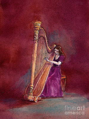 Painting - The Harpist by Suzanne Krueger