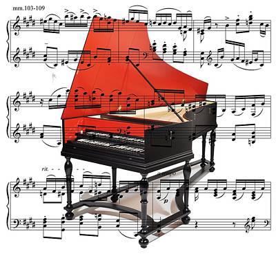 Wellington Digital Art - The Harpsichord by Ron Davidson