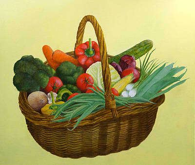 Broccoli Painting - The Harvest by Brett McGrath