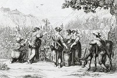 The Harvest In Tivoli, La Vendemmia In Tivoli Art Print by Italian School