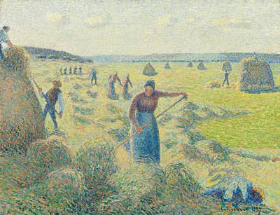 The Harvest Of Hay In Eragny Art Print