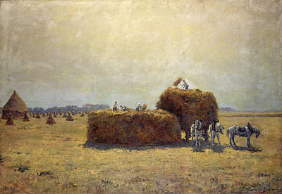 The Harvest Oil On Canvas Art Print by Pierre-Georges Dieterle