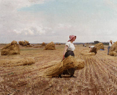 The Harvest Art Print by Victor Gabriel Gilbert