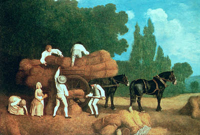 The Harvest Wagon Print by George Stubbs