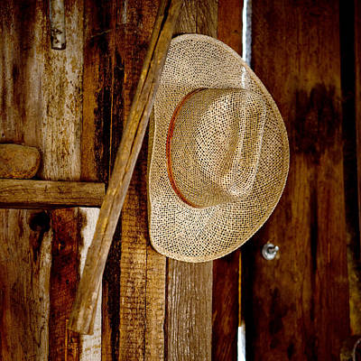 Working Cowboy Photograph - The Hat by Art Block Collections