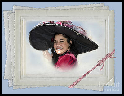 Process Digital Art - The Hat by Betty LaRue