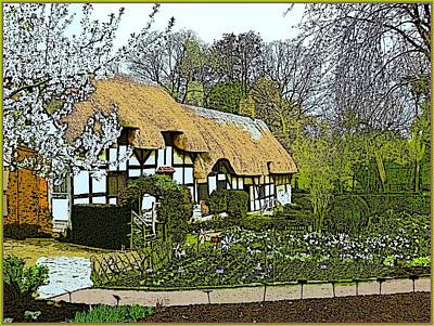 Stratford Photograph - The Hathaway Cottage In April by Mindy Newman