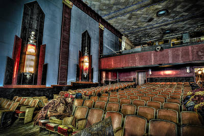 Photograph - The Haunted Cole Theater by David Morefield