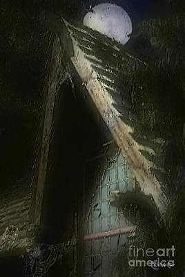 Haunted House Digital Art - The Haunted Gable by RC DeWinter