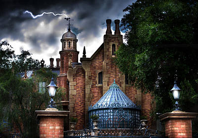 The Haunted Mansion Art Print by Mark Andrew Thomas