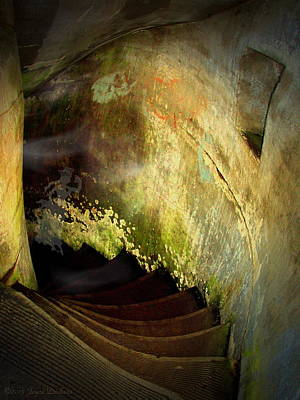 Photograph - The Haunted Stairwell From The Past by Joyce Dickens
